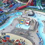 Cape Cod Inflatable Park aerial view
